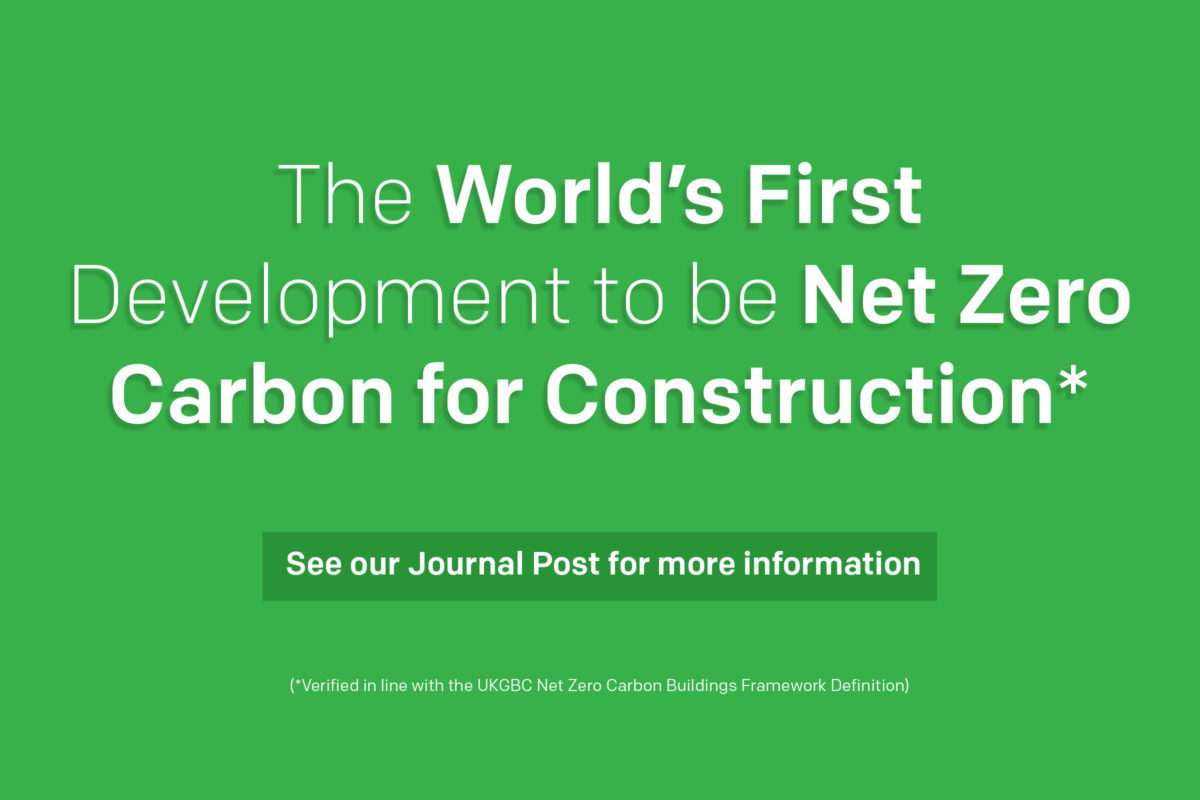 World's First Net Zero Carbon for Construction verified building